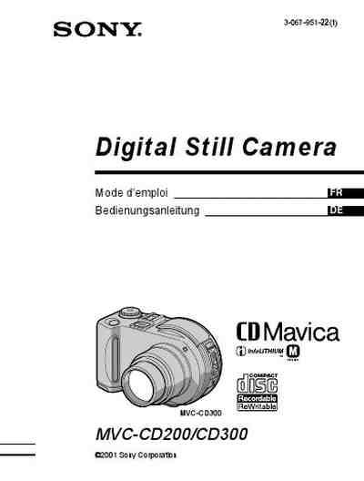 SONY MAVICA MVC-CD200 The camera/ Camera download manual