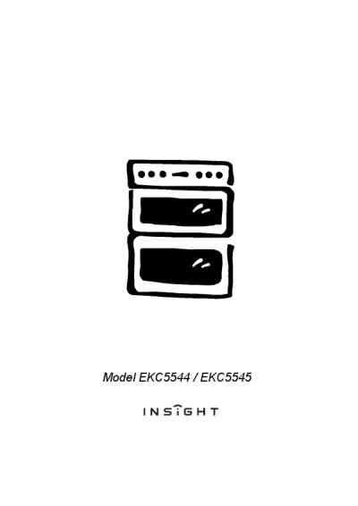 ELECTROLUX EKC5544K Cooker/ stove download manual for free