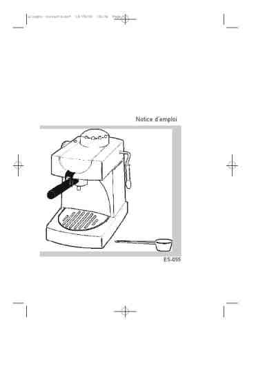 ROWENTA ES 055 Coffee maker download manual for free now