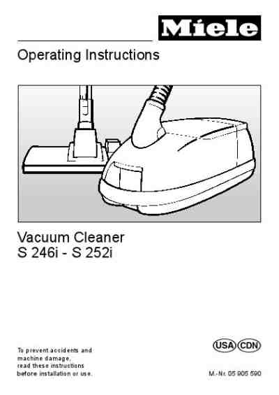 MIELE S251 Vacuum cleaner download manual for free now