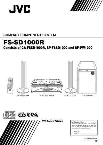 JVC FSSD1000R HiFi system download manual for free now