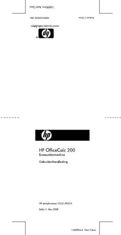HP OFFICECALC 200 Calculator download manual for free now