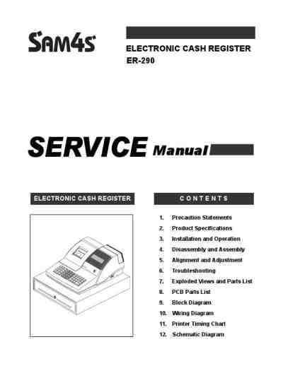 SAMSUNG SAM4S ER-290 Cash register download manual for