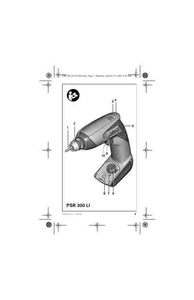 BOSCH PSR 300 LI Tools download manual for free now