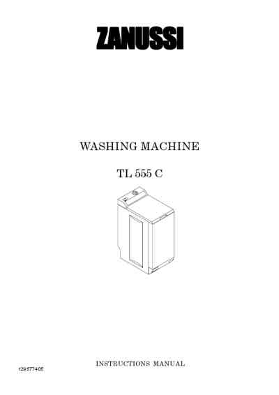 ZANUSSI TL555C Washing machine download manual for free