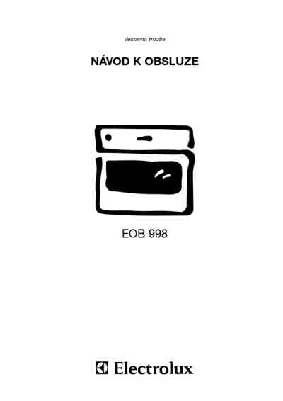 ELECTROLUX EOB 998 W Oven download manual for free now