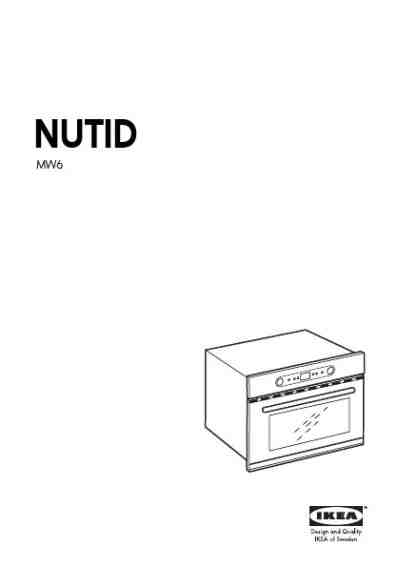 IKEA NUTID MW6 Microwave oven download manual for free now
