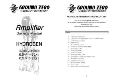 GROUND ZERO GZHA 5125 X Car radio download manual for free