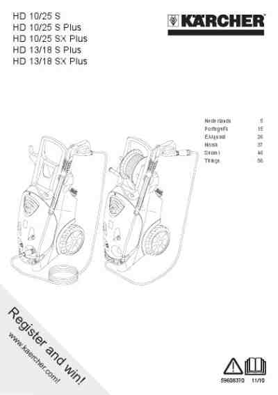 KARCHER HD10-25S PLUS Tools download manual for free now