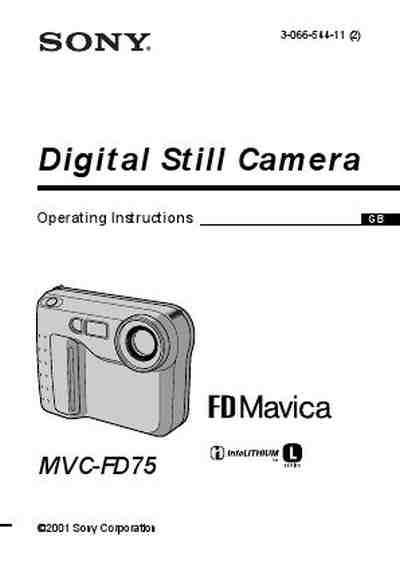 SONY MVC-FD75 MAVICA The camera/ Camera download manual