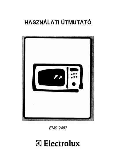 ELECTROLUX EMS2487X Microwave oven download manual for