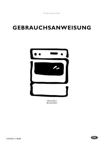 ELECTROLUX EBGL5VSD.3 Oven download manual for free now