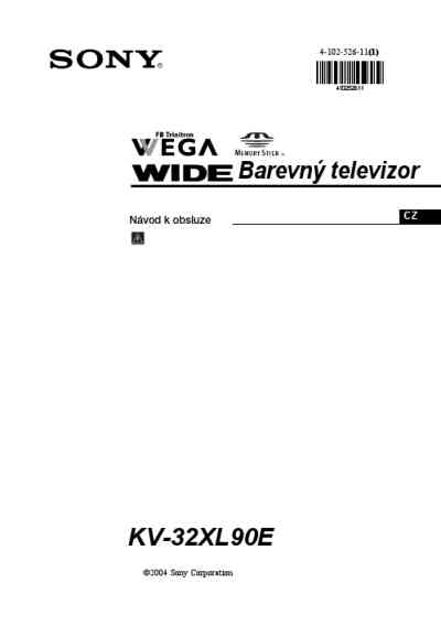 SONY KV 32XL90E TV/ Television download manual for free