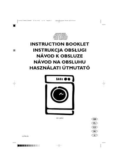 ELECTROLUX EW1289W Washer-dryer download manual for free