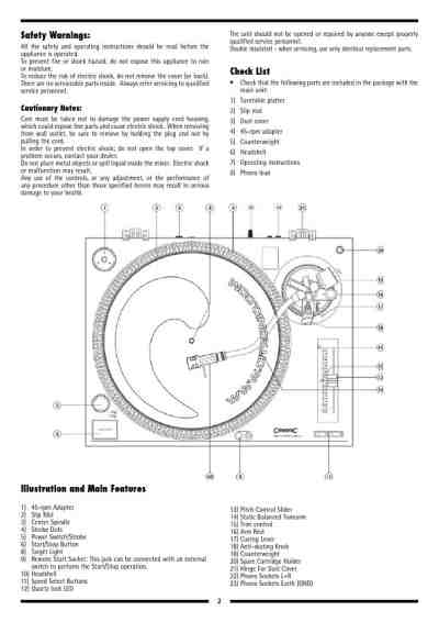 CITRONIC PD-1S MK3 Gramophone download manual for free now