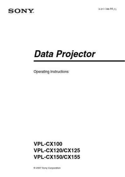 SONY VPL CX100 Projector download manual for free now