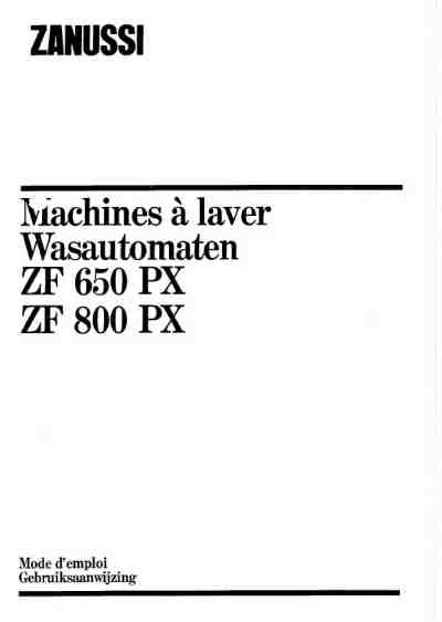 ZANUSSI-ELECTROLUX ZF800PX Washing machine download manual