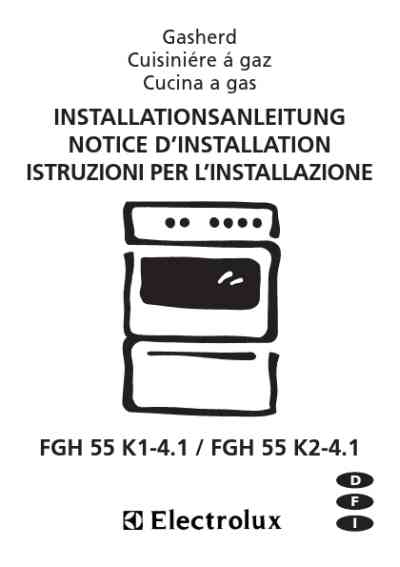 ELECTROLUX FGH55K14.1 Hob download manual for free now