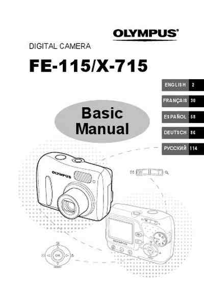 OLYMPUS FE-115 The camera/ Camera download manual for free