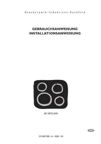 ELECTROLUX GK58TCI.4CN Hob download manual for free now