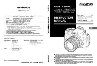 OLYMPUS E-620 The camera/ Camera download manual for free