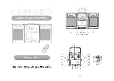 TELEFUNKEN TCD62 HiFi system download manual for free now