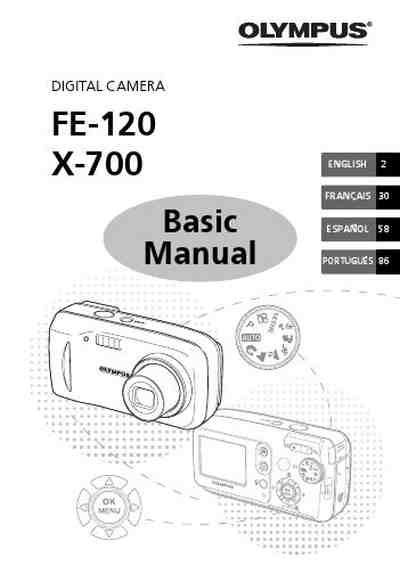 OLYMPUS FE120 The camera/ Camera download manual for free