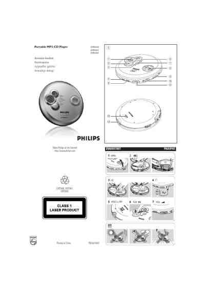 PHILIPS EXP2460 MP3 player/ walkman download manual for