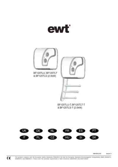EWT BF120TLT Central heating download manual for free now