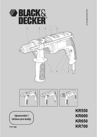 BLACK-DECKER KR 600 Tools download manual for free now