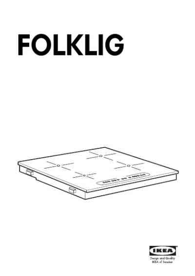 IKEA FOLKLIG Cooker/ stove download manual for free now