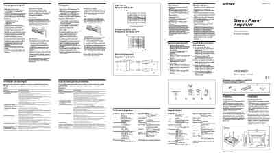 SONY XM 2100 GTX Car radio download manual for free now