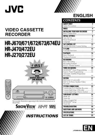 JVC HRJ472 DVD/ Blu-ray player download manual for free