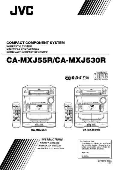 JVC CA-MXJ55R HiFi system download manual for free now