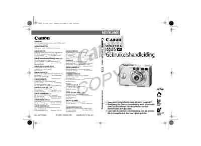 CANON DIGITAL IXUS V3 The camera/ Camera download manual