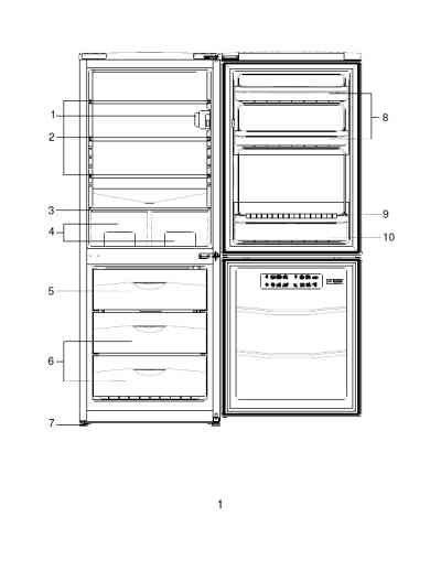 BEKO CS24CAE Refrigerator/ freezer combination download