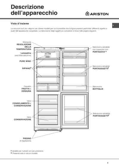 HOTPOINT-ARISTON BMBM 1822 V Fridge/ Refrigerator download