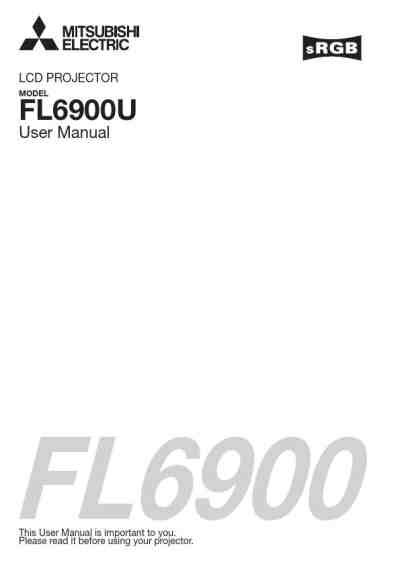 MITSUBISHI FL6900U Projector download manual for free now