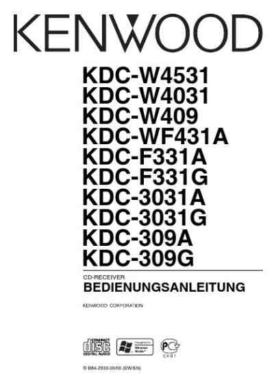 KENWOOD KDC-WF431A Car radio download manual for free now
