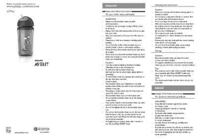 PHILIPS-AVENT SCF766 others download manual for free now