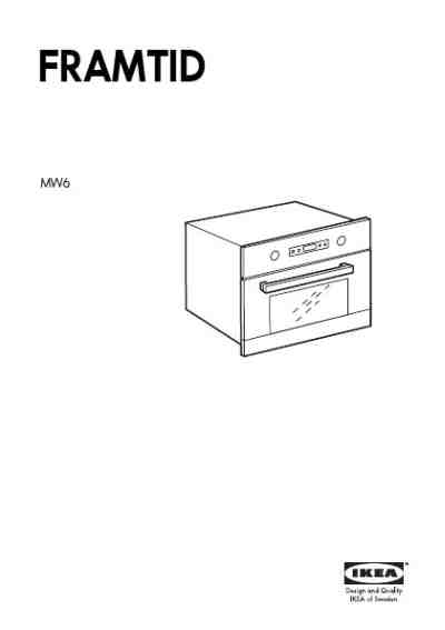 WHIRLPOOL MW6 FRAMTID Microwave oven download manual for