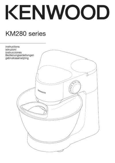 KENWOOD PROSPERO KM287 Mixer download manual for free now