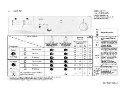 WHIRLPOOL AWZ 760 Clothes dryer download manual for free