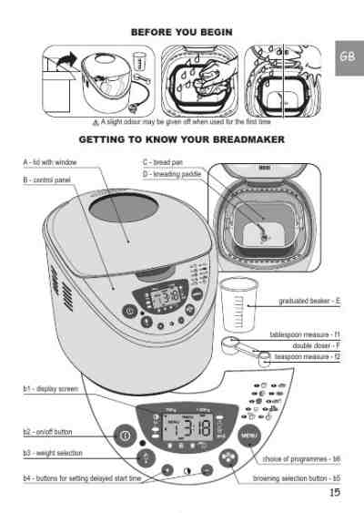 MOULINEX OW 3000 Bread baking machine download manual for