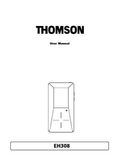 THOMSON EH308 MP3 player/ walkman download manual for free