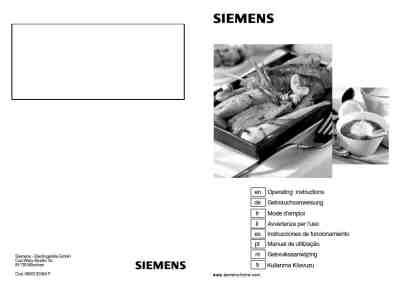SIEMENS EP718QB20 N Hob download manual for free now