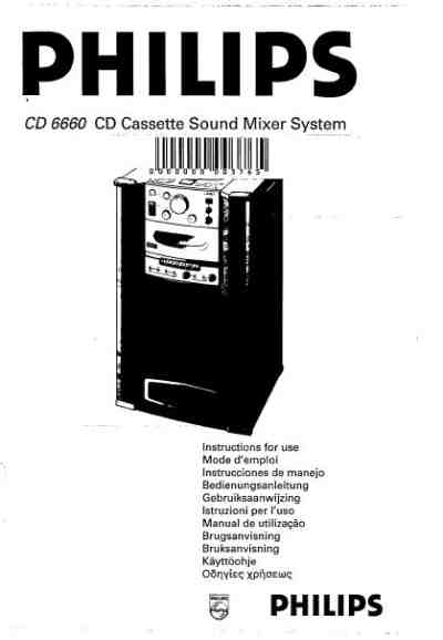 PHILIPS CD6660 HiFi system download manual for free now