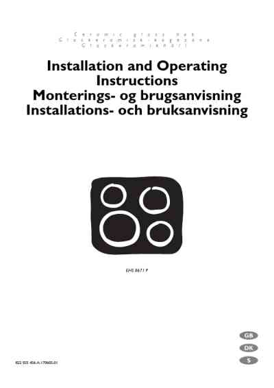 ELECTROLUX EHS8671P Oven download manual for free now