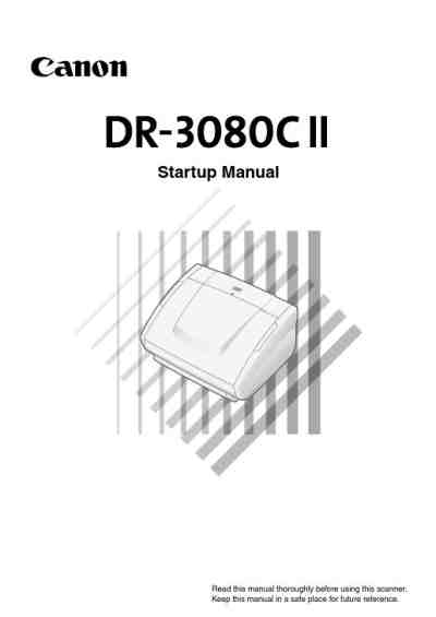 CANON DR 3080CII Scanner download manual for free now