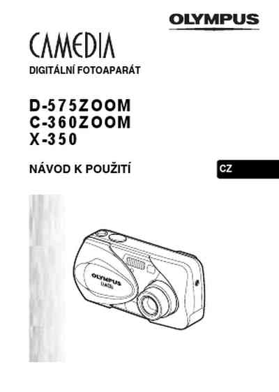 OLYMPUS C 360 ZOOM The camera/ Camera download manual for
